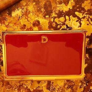 Kate Spade 'D' business card case NWOT